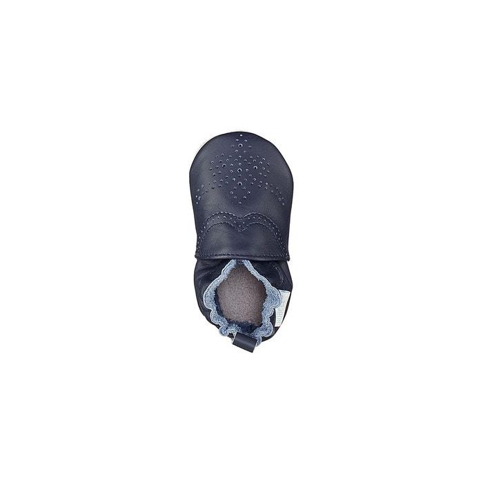 d124df34 Chaussons cuir chic & smart bleu marine Robeez | La Redoute