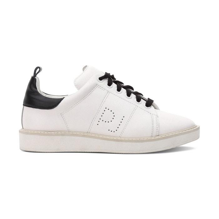 Baskets en cuir sofia blanc pepe jeans en solde la redoute - La redoute soldes blanc ...