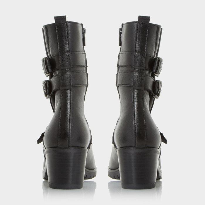Bottines pennfolde bride noir Black à cuir Dune boucle avec I7rw7q