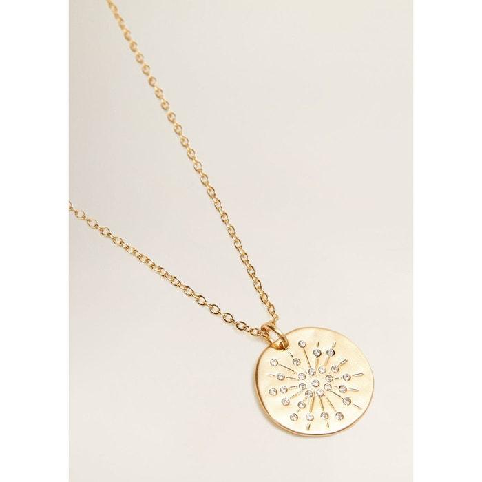 a4bc0d0b02570 Collier avec pendentif métallique or Mango   La Redoute