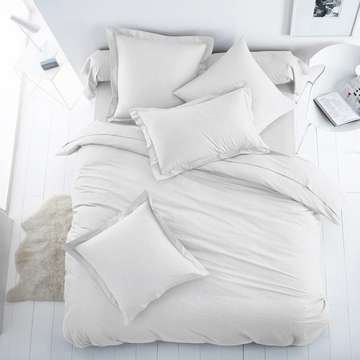 Housse de couette unie coton polyester scenario la redoute for Housse de couette unie