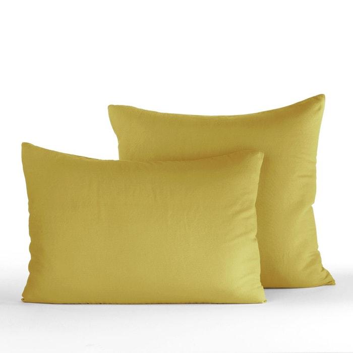 taie d oreiller gaze de coton feverole am pm la redoute. Black Bedroom Furniture Sets. Home Design Ideas