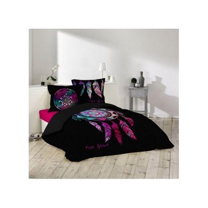 parure de lit porte bonheur 260x240 douceur d 39 int rieur. Black Bedroom Furniture Sets. Home Design Ideas