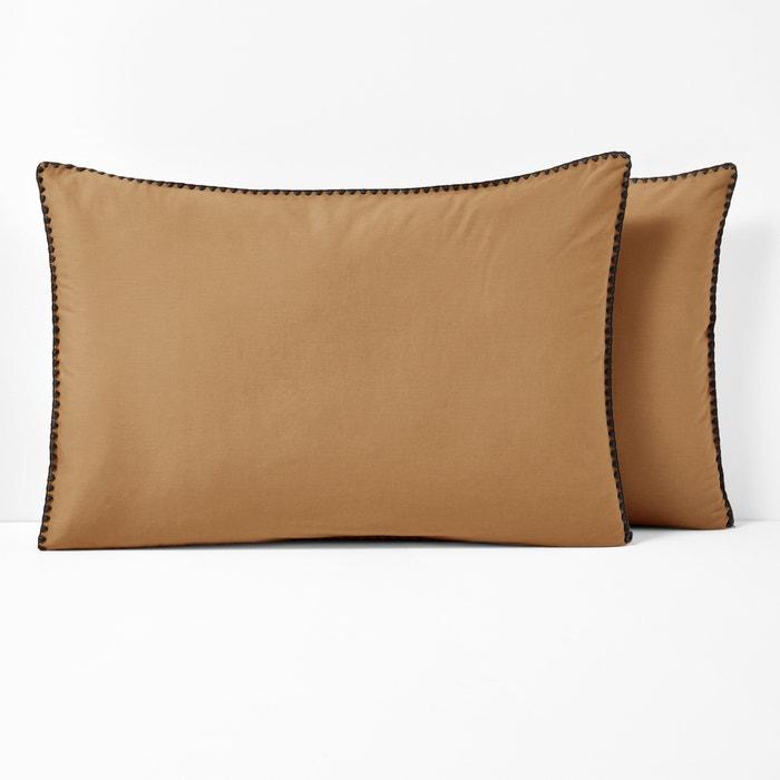 MERIDA Embroidered Cotton Pillowcase  La Redoute Interieurs image 0