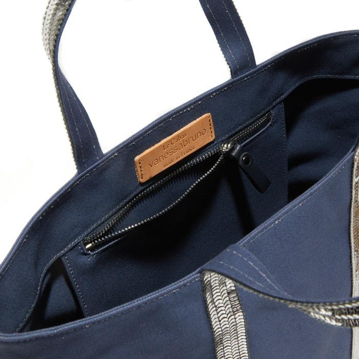bfb9a6961c8b Сумка-шоппер среднего размера из ткани с блестками темно-синий Vanessa Bruno  | La Redoute