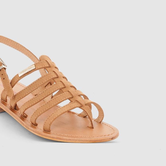 afbeelding Platte leren sandalen Hook LES TROPEZIENNES PAR M.BELARBI