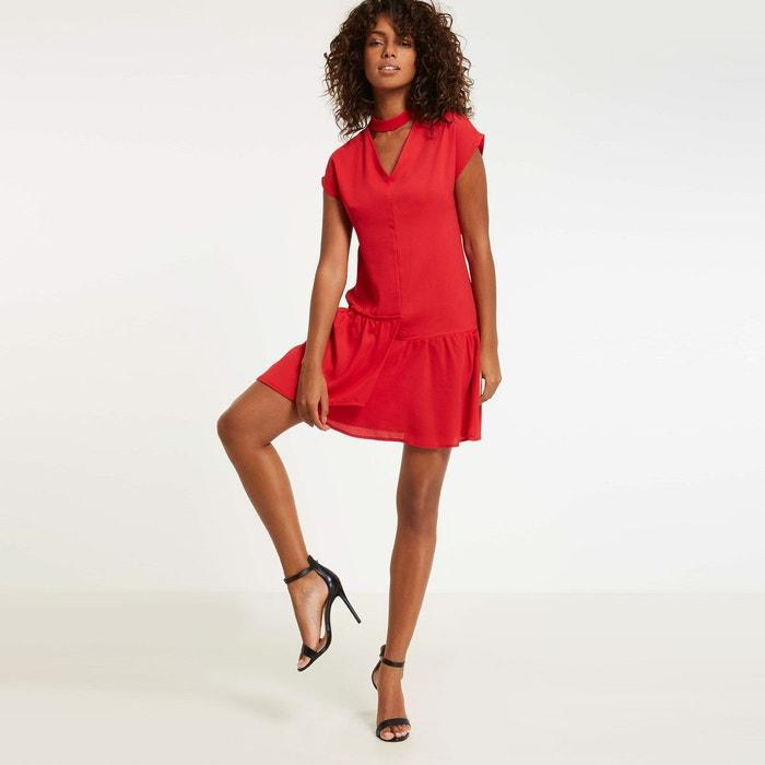 robe volants asym triques rouge morgan la redoute. Black Bedroom Furniture Sets. Home Design Ideas