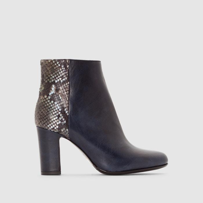 afbeelding Boots in leer met hoge hak Dinah HEYRAUD