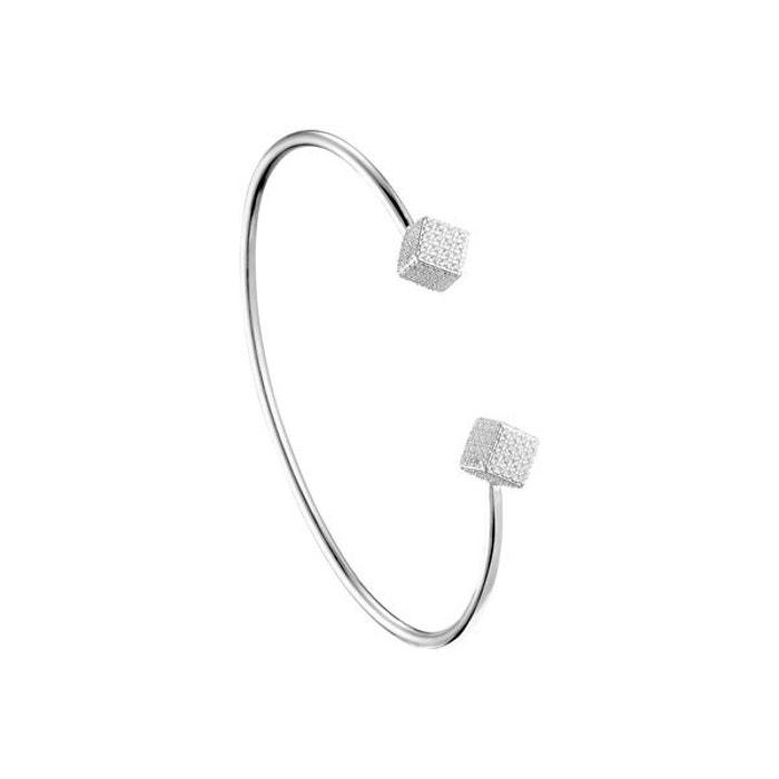 Bracelet jonc cubes en argent 925 passivé, 6.86g, ø55mm argent Canyon | La Redoute