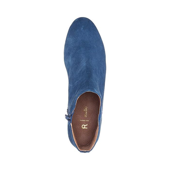 Boots cuir talon moyen - La Redoute Collections - BleuLa Redoute Collections YnT4DBZ7