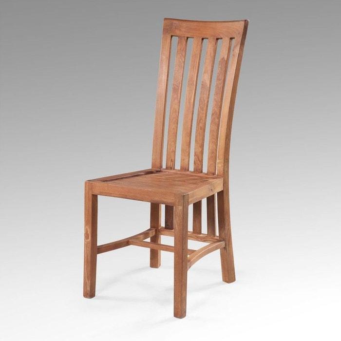chaise en teck massif balero couleur unique kha home. Black Bedroom Furniture Sets. Home Design Ideas