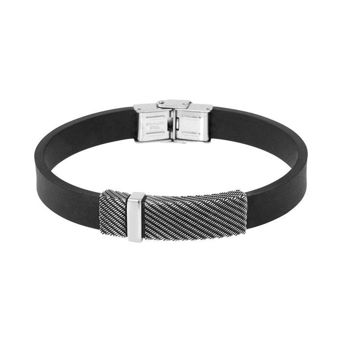 Remise Professionnelle Collections De Vente Bracelet male en acier noir noir Male | La Redoute 1wcX34