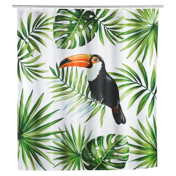 rideau de douche tropical toucan polyester 180 x 200. Black Bedroom Furniture Sets. Home Design Ideas