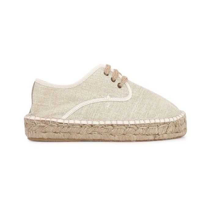 Blucher lin claudia  beige Polka Shoes  La Redoute