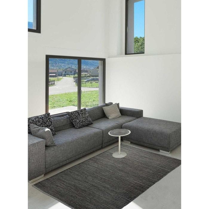 Tapis de salon moderne design gobi jute noir esprit la Tapis de salon moderne
