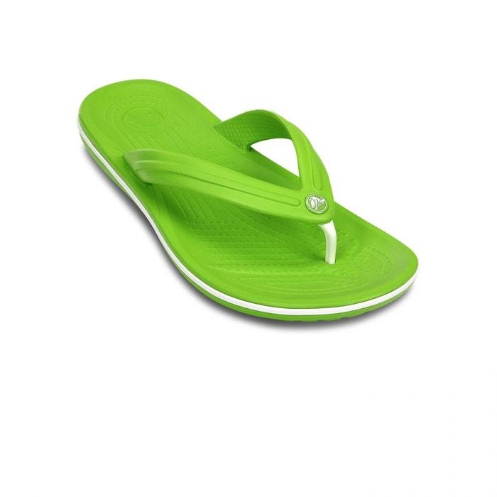 Tongs crocband flip volt green/white Crocs