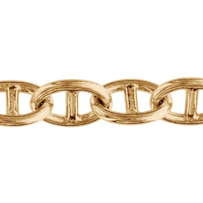 Bracelet 20,5 cm maille marine ovale plaqué or 750 couleur unique So Chic Bijoux   La Redoute
