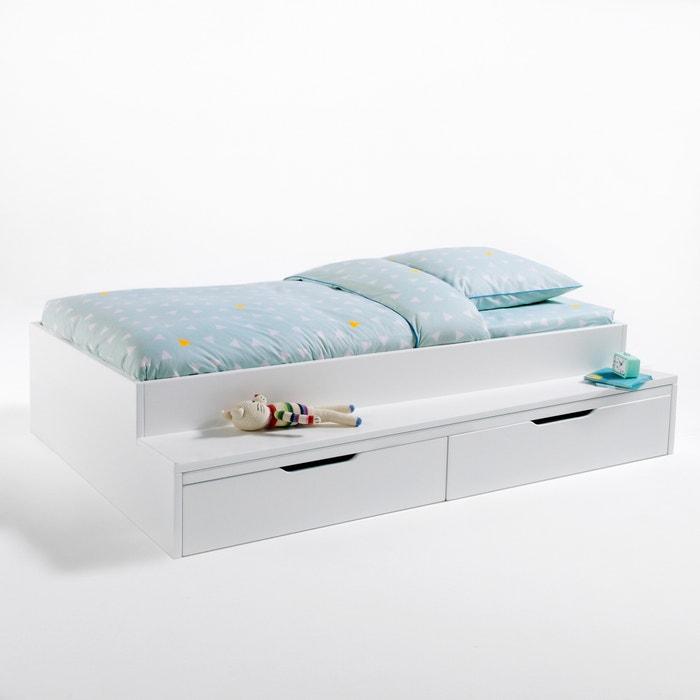 Lit plateforme avec banc et tiroirs Yann  La Redoute Interieurs image 0
