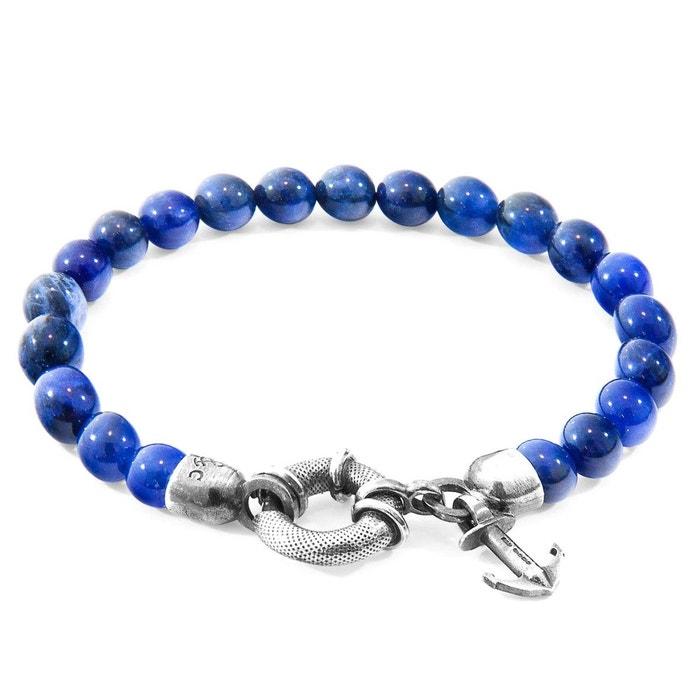 Sortie Très Pas Cher Bracelet port argent et pierre sodalite bleu Anchor & Crew | La Redoute Acheter Prix En Ligne Pas Cher Recommander Pas Cher Fourniture En Ligne 06e3LaHi2o
