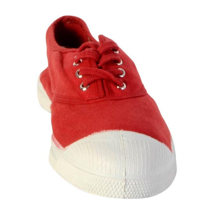 Baskets femme bensimon lacet toile femme rouge rouge/blanc Bensimon