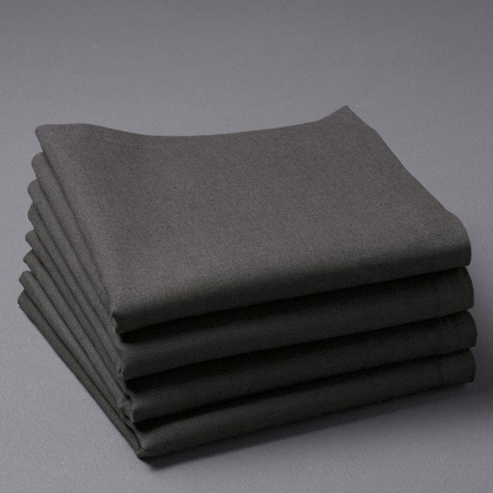 Tovaglioli lino-cotone BORDER, confezione da 4  La Redoute Interieurs image 0