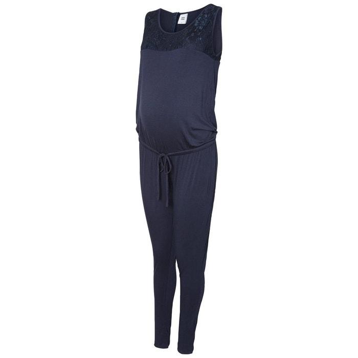 Combinaison grossesse jersey navy blazer mama licious la redoute - La redoute combinaison ...