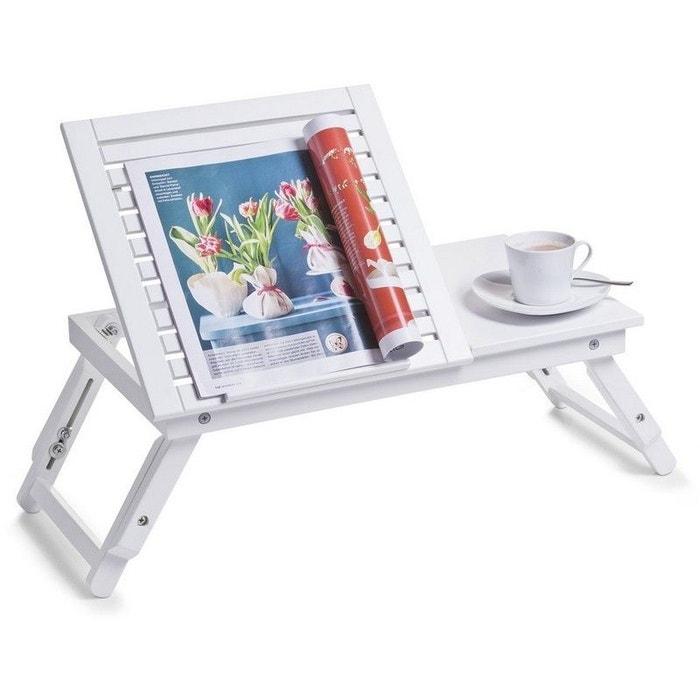 table de lit avec plateau inclinable en bois blanc zeller present la redoute. Black Bedroom Furniture Sets. Home Design Ideas