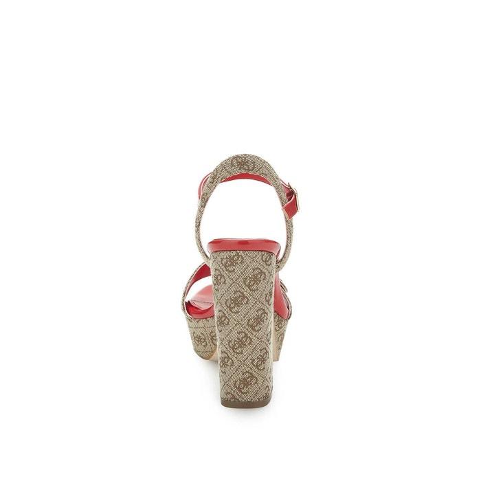 Sandale logo beige Guess