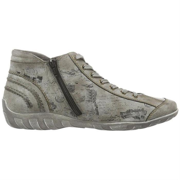 Chaussures à lacets feutrine  gris Remonte  La Redoute