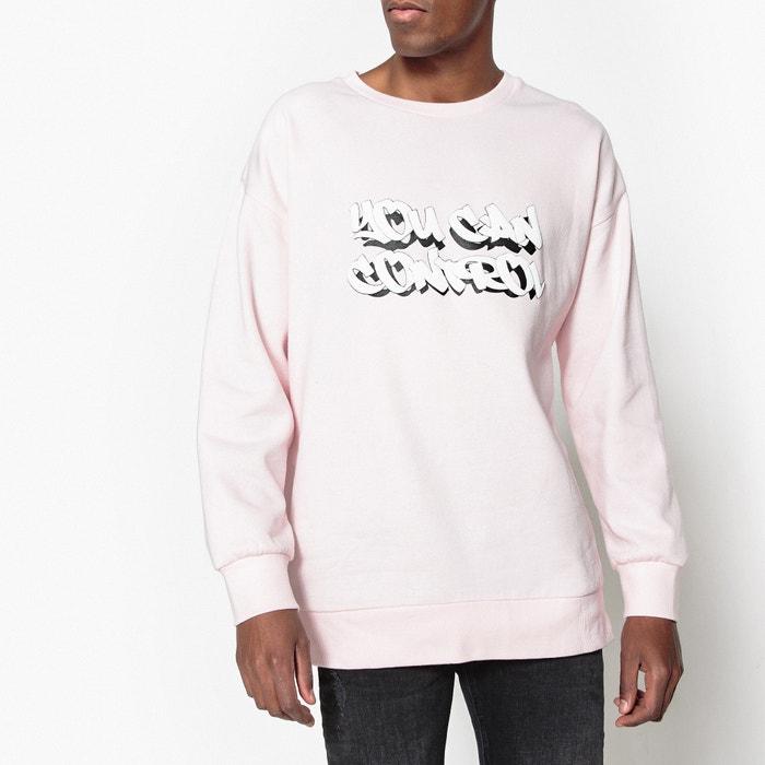 Oversized Crew Neck Slogan Sweatshirt  La Redoute Collections image 0