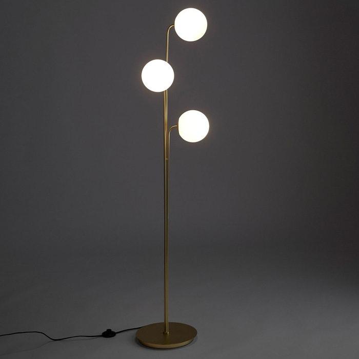 lampadaire 3 globes opaline moricio