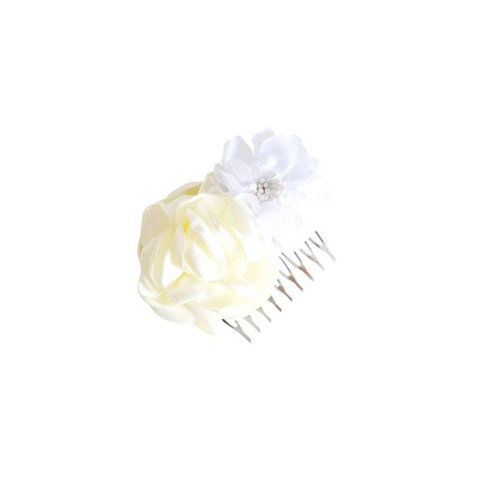 peigne cheveux mariage fleurs ivoire et blanche couleur unique mes tites lilis la redoute. Black Bedroom Furniture Sets. Home Design Ideas