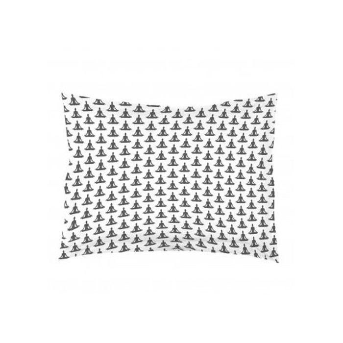 taie d 39 oreiller rectangulaire yoga volant plat blanc home maison la redoute. Black Bedroom Furniture Sets. Home Design Ideas