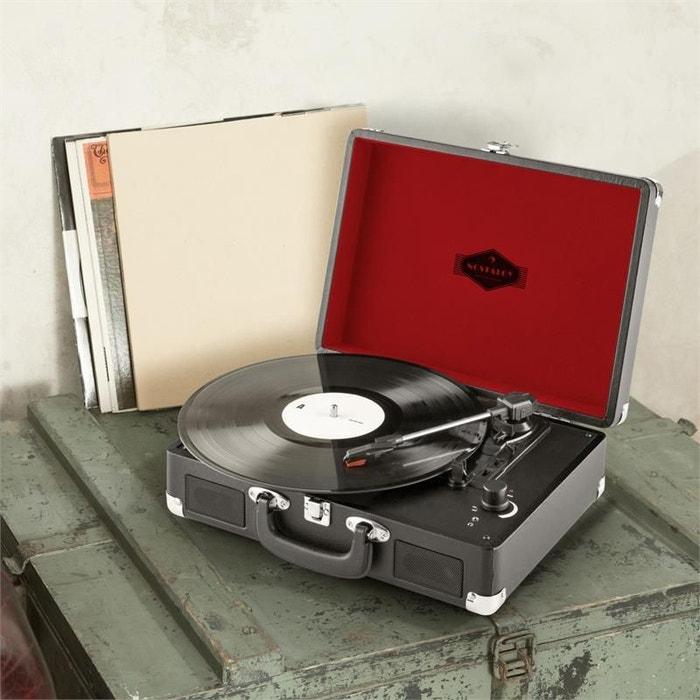 Peggy Sue Record Collector Set Tourne-disque rétro valise à vinyles -marron wyePzN