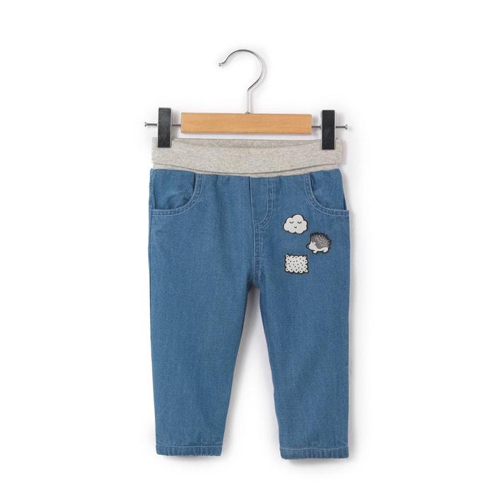 Jeans com forro em algodão, 0 meses - 3 anos La Redoute Collections