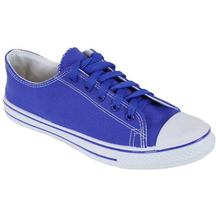 2b74fb220e6e1 Baskets basses en toile bleu Kebello | La Redoute