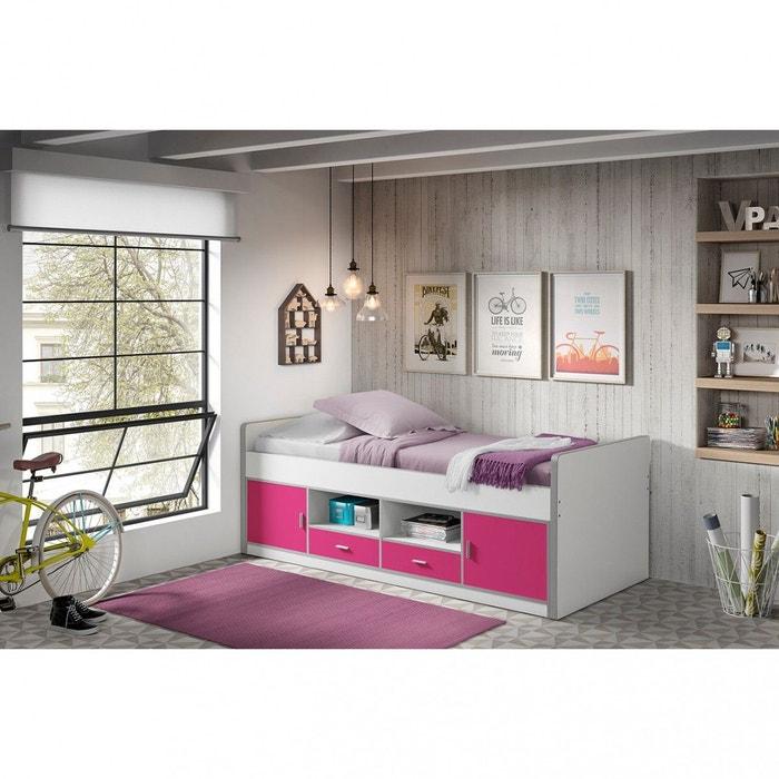 lit combin rose fuchsia 90x200 rose terre de nuit la redoute. Black Bedroom Furniture Sets. Home Design Ideas