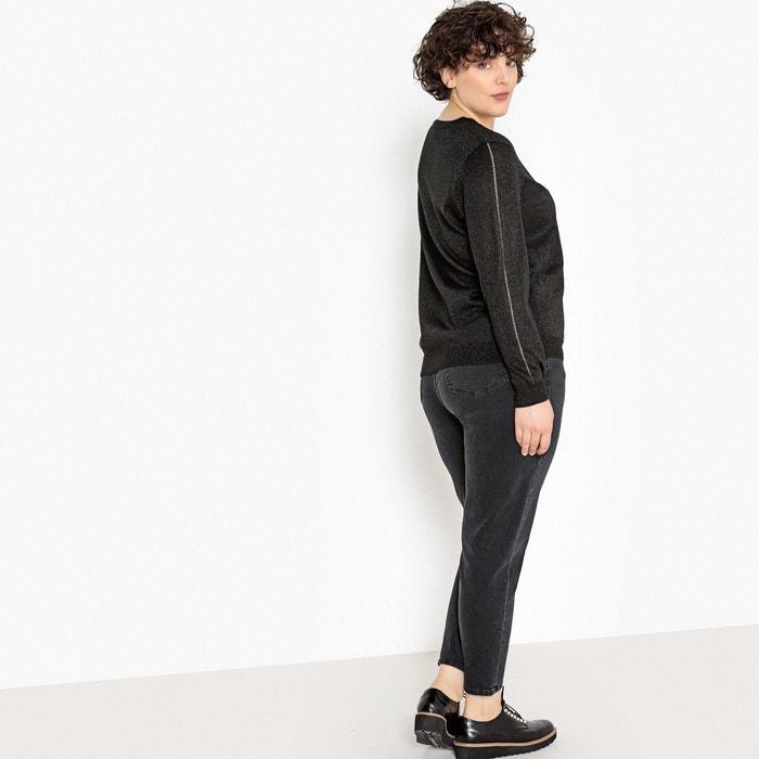 4b89b67a6212b Fine knit sparkle jumper sweater shimmering black Castaluna Plus Size