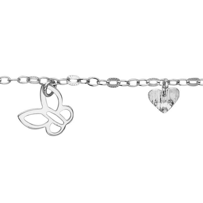 Site Officiel Manchester Sortie Bracelet 19 cm pampilles coeurs papillons argent 925 couleur unique So Chic Bijoux | La Redoute Prix Le Plus Bas Offre Magasin Rabais Hs7Zu