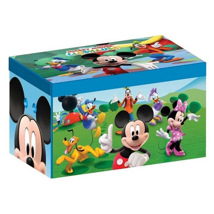 Coffre jouets en tissu mickey mouse disney multicolor delta la redoute - Coffre a jouet mickey ...