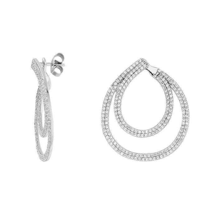 Boucles oreilles argent 925/1000 argente Cleor | La Redoute Réduction Avec Paypal abordable Sortie Très Pas Cher 7Rq4b