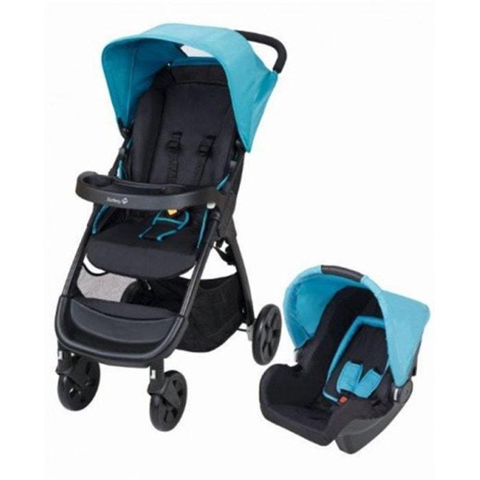 poussette avec cosy safety 1st 39 pack duo amble 39 bleu. Black Bedroom Furniture Sets. Home Design Ideas