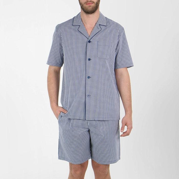 pyjama homme court swing carreaux marine eminence la redoute. Black Bedroom Furniture Sets. Home Design Ideas