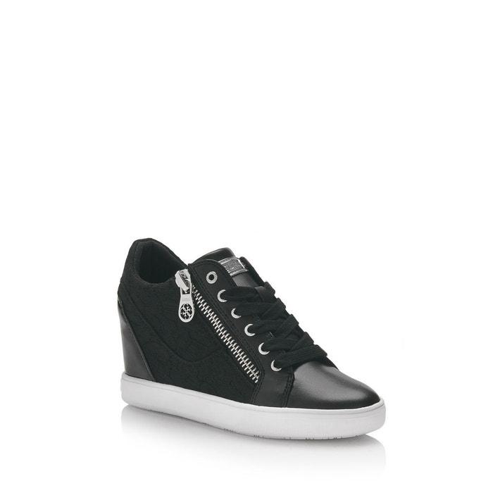 Sneaker compensee fierze dentelle  noir Guess  La Redoute