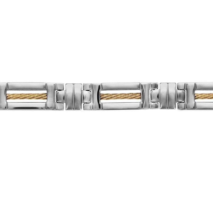 Bracelet 21 cm câble jaune double fermoir acier inoxydable couleur unique So Chic Bijoux   La Redoute Collections De Vente Acheter En Ligne Résistance À L'usure 41MKW
