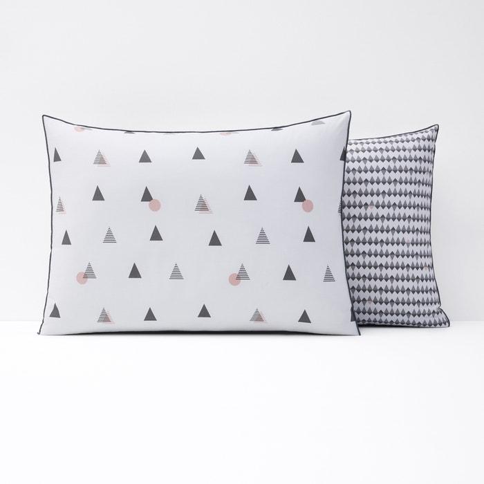 DIGNA Geometric Print Cotton Percale Pillowcase  La Redoute Interieurs image 0