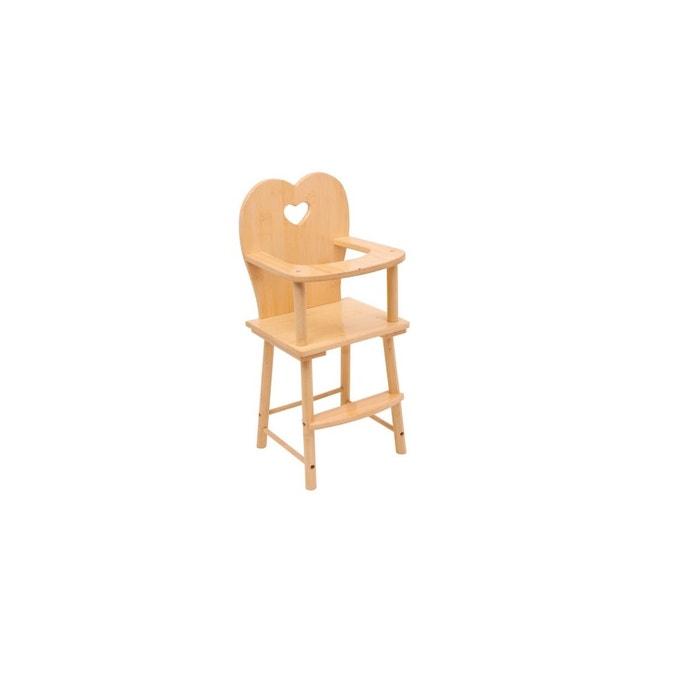 chaise haute pour poup e nature legler la redoute. Black Bedroom Furniture Sets. Home Design Ideas