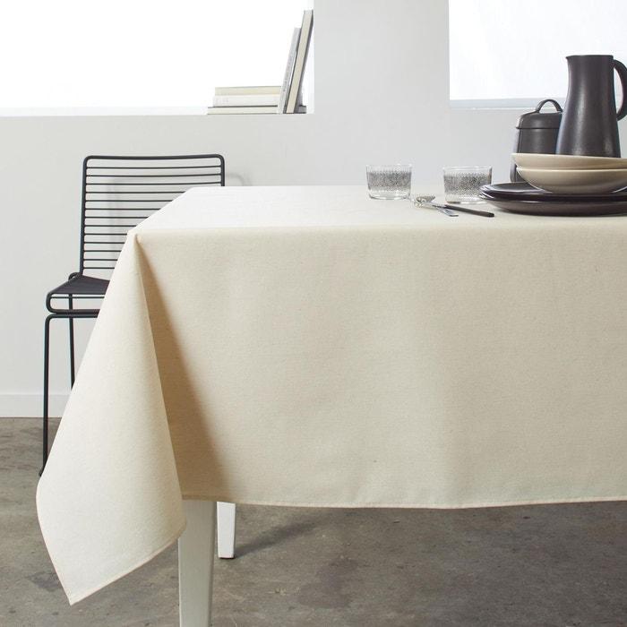 Nappe rectangulaire coton mona ecru cru madura la redoute - Nappe rectangulaire grande taille ...