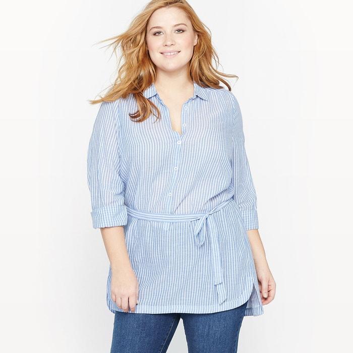 Image Striped Tunic Shirt CASTALUNA
