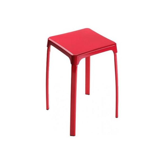 tabouret de bain rouge couleur unique declikdeco la redoute. Black Bedroom Furniture Sets. Home Design Ideas